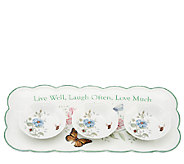 Lenox Butterfly Meadow Hors dOeuvre Tray with Dipping Bowls - H286144