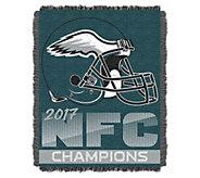2017 NFC Champs Philadelphia Eagles Jacquard Throw - H295744