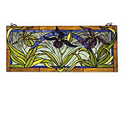 Tiffany Style Lady Slippers Window Panel - H123445