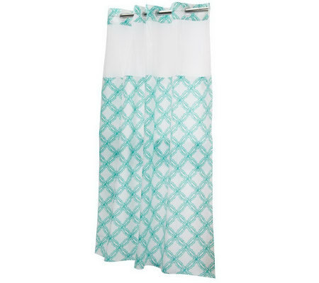 Hookless Trellis Design Shower Curtain With Liner
