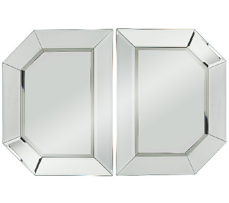 2 Piece Beveled Glass Mirror Sections By Valerie H202045