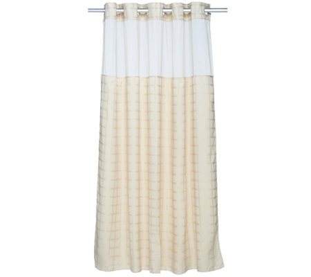 Hookless Square Tile Jacquard 3 In 1 Shower Curtain