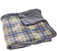 Berkshire Oversized King Reversible Velvet Soft Printed Blanket - H206345