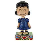 Jim Shore Peanuts 4 5/8 Little Miss Fussbucket Lucy Figurine - H206545