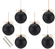 ED On Air Set of 6 Chalkboard Ornaments by Ellen DeGeneres - H207145