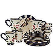 As Is Temp-tations 20 piece Old World Service for 4 Dinnerware Set - H207745