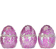 Set of 3 4 Mosaic Eggs by Valerie - H207945