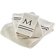 Northern Nights 100Cotton Initial Letter 3 Piece Towel Set - H209645