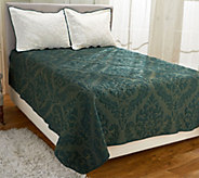 As Is Dennis Basso Micro Mink FL/QN Christmas Coverlet - H210345
