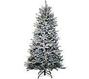 As Is Santas Best 7.5 Snow Flurry Tree with 7 Function LED Lights - H211045