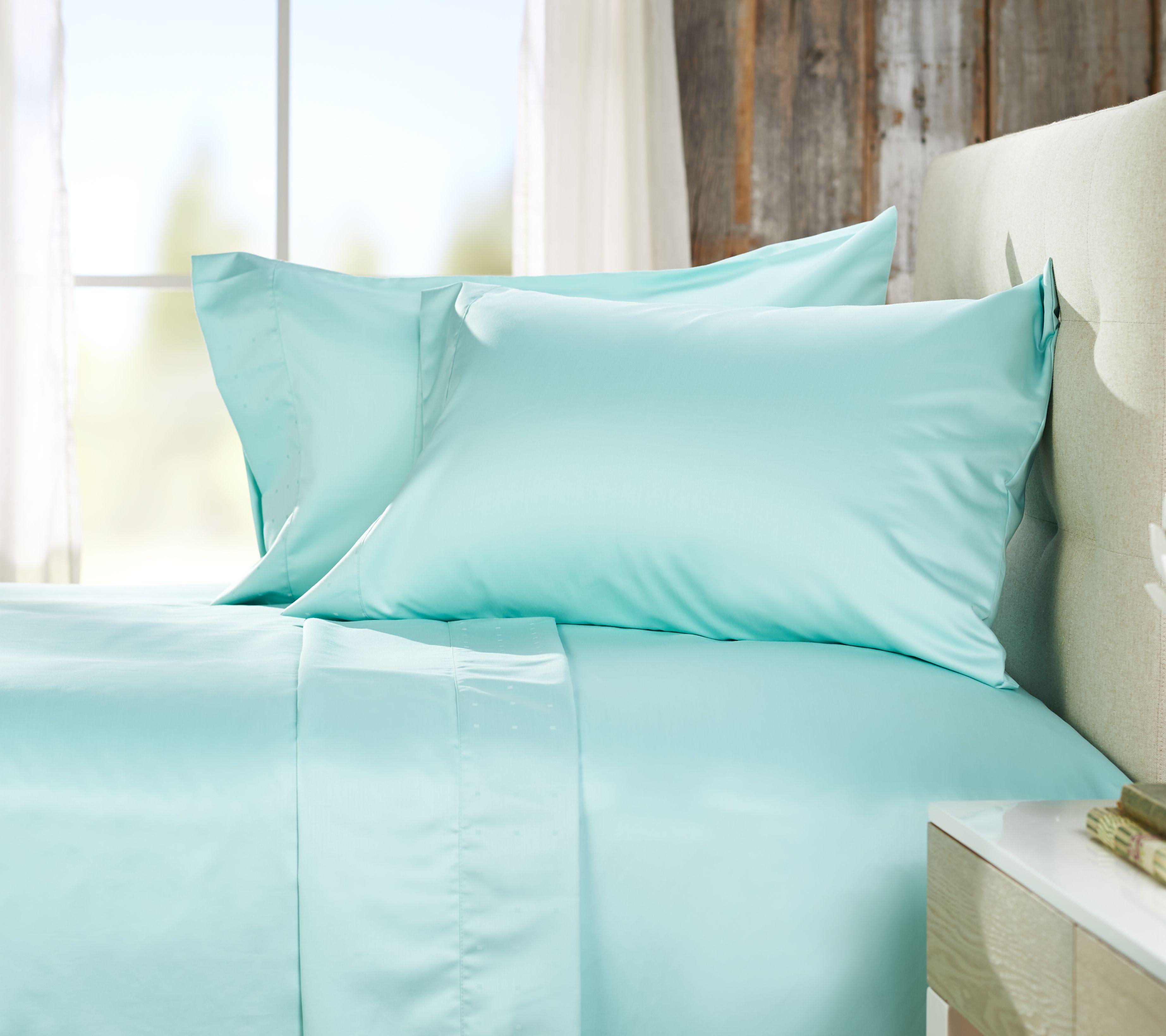 northern nights 700tc 100 cotton wrinkle defense sheet set w dot hem h212545
