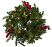 Bethlehem Lights Set of 2 14 Miniature Green Wreaths w/Microlights - H212745