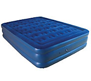 Pure Comfort Queen Size Flock Top Raised Air Bed - H281045