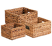 Honey-Can-Do 3-piece Nesting Banana Leaf Baskets - H282745