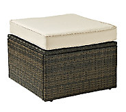 Crosley Palm Harbor Outdoor Wicker Ottoman - H283045