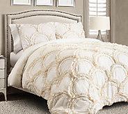 Chic 3-Piece Ivory Full/Queen Comforter Set byLush Decor - H287545