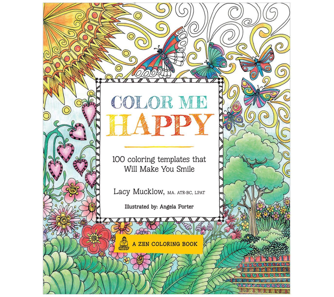 Color Me Happy Adult Coloring Book QVC.com