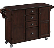 Home Styles Traditional Kitchen Cart with WoodTop - H288645