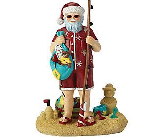 Seashore Santa Figurine by Pipka