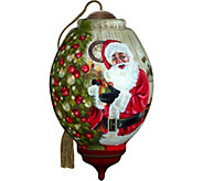 Christmas Time is Here Santa Ornament by NeQwa - H294245