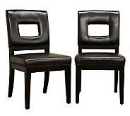 Faustino Set of 2 Bicast Leather Dining Chairs - H349645
