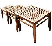 Amber 3-Piece OUtdoor Teak Nesting Table Set - H360945
