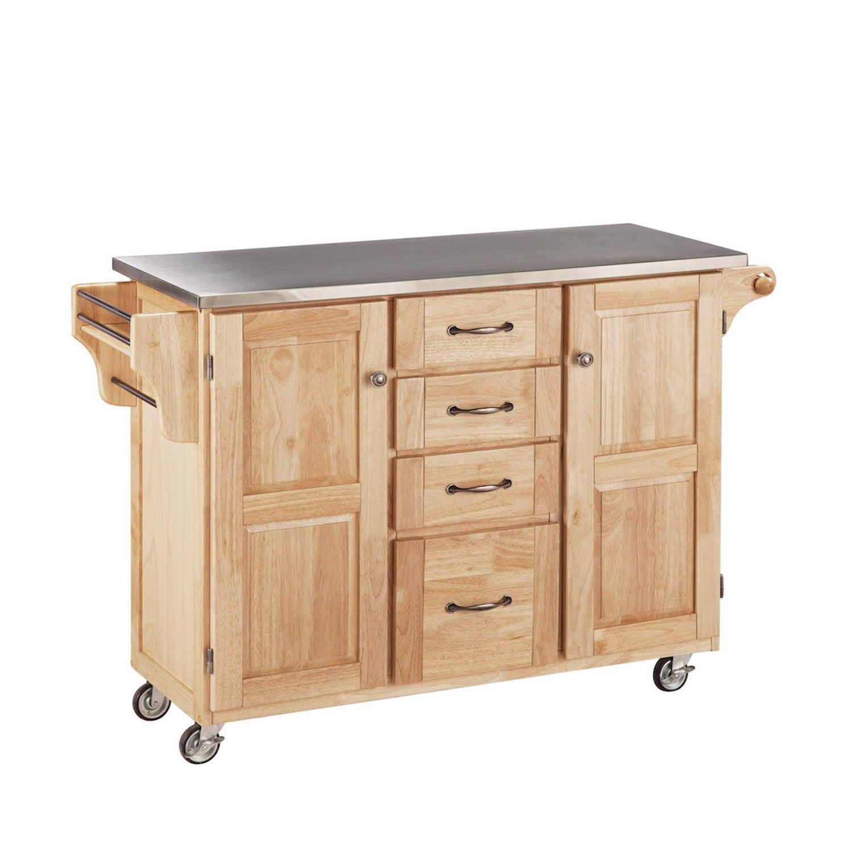 Kitchen storage organization shopswell for Home styles natural kitchen cart with storage