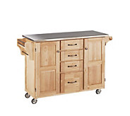 Home Styles Large Create a Cart - Natural w/Stanless Top - H129046