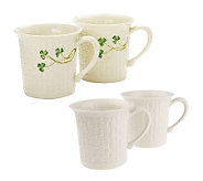 Belleek Everyday Set of 2 Mugs - H193346