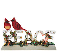 Plow & Hearth Illuminated Christmas Greeting with Cardinals - H206146