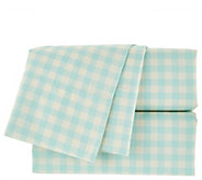 Isaac Mizrahi Live! Home 100Cotton Gingham Twin Sheet Set - H208646