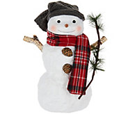 Hallmark Snowman Figurine with Twig Accent - H208746