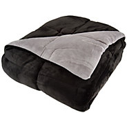 Berkshire Blanket Queen Reversible Solid Color Filled Blanket - H209046