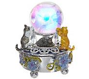 Kirks Folly Enchanted Cats Crystal Ball Trinket Box - H213846