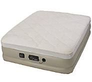 Serta Raised Queen Pillow Top w/ NeverFlat Pump - H284446