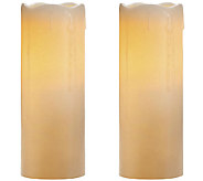 Candle Impressions S/2 8 Melted Top Drip Flameless Candles - H284546