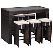 Sanders Outdoor Bar 7-Piece Set - H288846