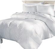 Elle 500TC Damask Stripe White Goose Down TwinComforter - H290046