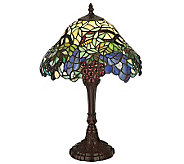 Tiffany Style 18-1/2H Spiral Grape Accent Lamp - H355946
