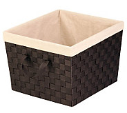 Honey-Can-Do Large Woven Nested Tote with Liner - H367446