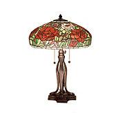 Tiffany Style 23-1/2 Peony Table Lamp - H122447