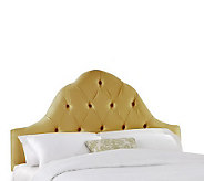 Skyline Furniture Arch Tufted Faux Silk Queen Headboard - H159447
