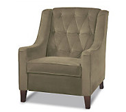Avenue Six Curves Tufted Chair - Coffee - H175747