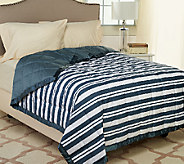 Northern Nights Montauk Stripe 300TC 550FP Reversible QN Down Blanket - H206747