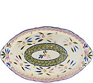 As Is Temp-tations 18 Old World Holiday Platter w/ Handles - H207247
