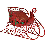 Kringle Express Illuminated 14 Glittered Decorative Metal Sleigh - H208547