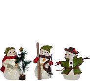 Hallmark Set of 3 6 Snowmen Figurines with Gift Box - H208747