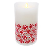 Luminara 7 360 Embedded Peppermint Candy Flameless Candle - H208847