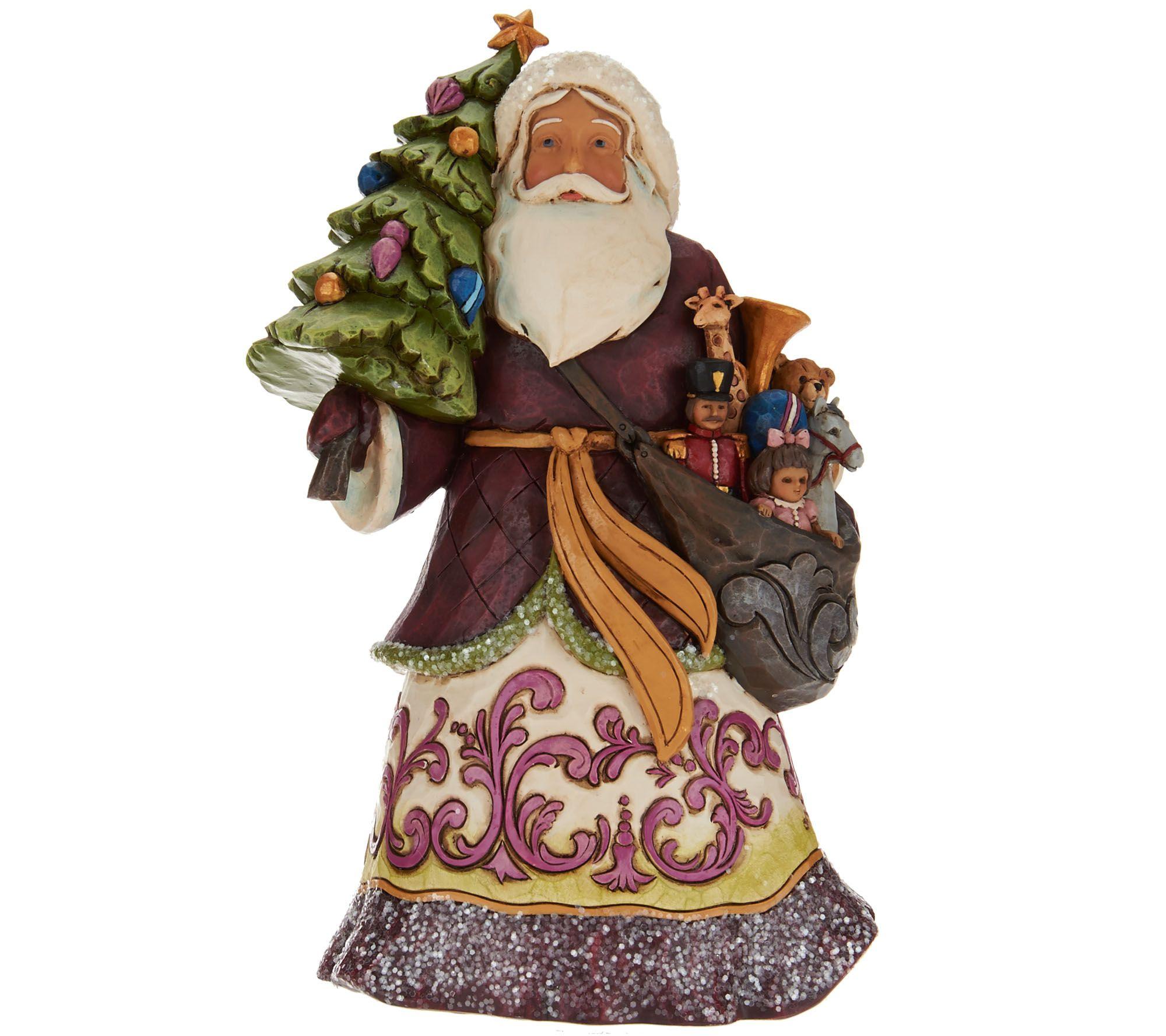 Jim shore victorian christmas santa figurine — qvc