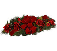 Red Rose Holiday Centerpiece by Valerie - H282347